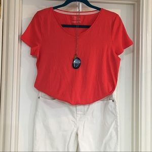 NWT pima cotton v-neck tee!